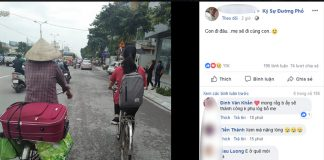 Hình ảnh 2 mẹ con đạp xe lên phố nhập học khiến bao người xúc động