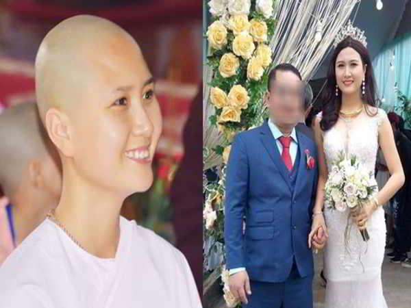 Người đẹp Nguyễn Thị Hà bị tố giật chồng sau 2 tháng xuống tóc quy y