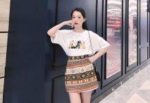 Khám phá xu hướng thời trang 2019 cùng chân váy họa tiết