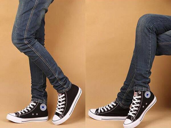 converse phối với quần Jeans
